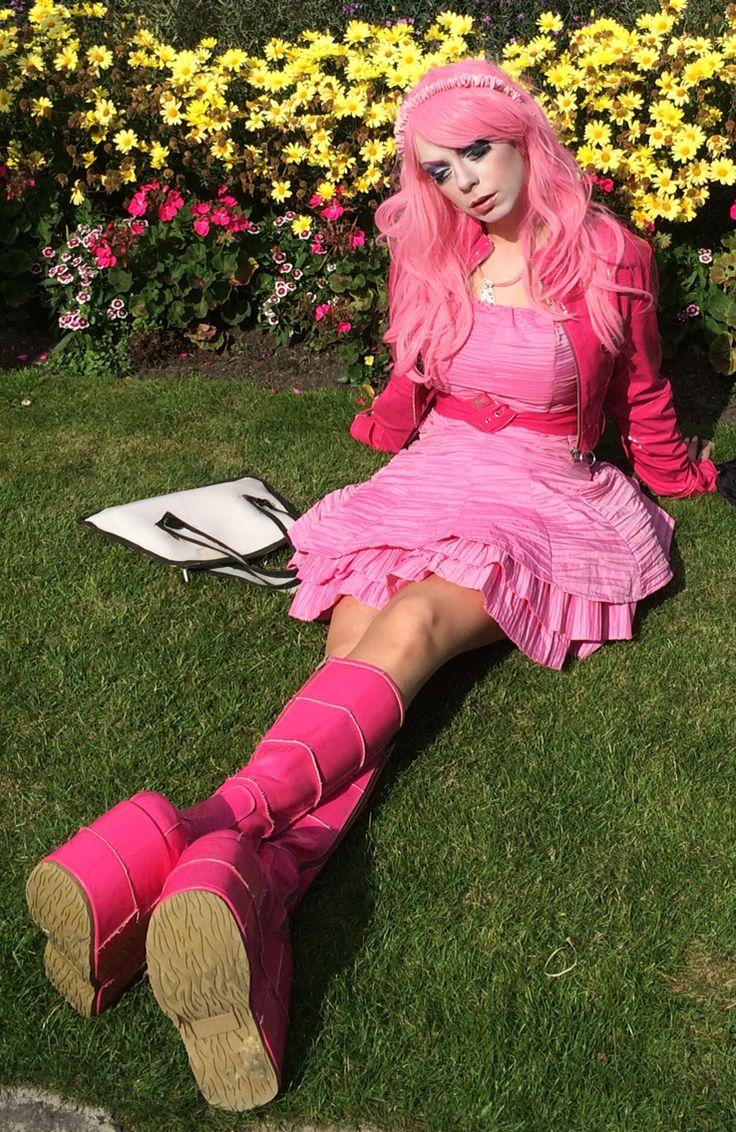 The grass is always greener anime Emma Keira with demonia pink boots