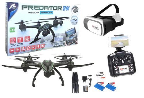 Drone radiocontrol con cámara Predator FPV Wifi + Gafas VR. Pilotaje real. 2 bat - http://www.midronepro.com/producto/drone-radiocontrol-con-camara-predator-fpv-wifi-gafas-vr-pilotaje-real-2-bat/