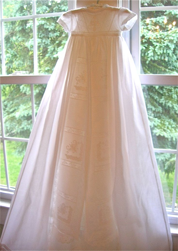 Exquisite Heirloom Christening Gown, Slip and Bonnet by GumdropGrove on Etsy https://www.etsy.com/listing/101759667/exquisite-heirloom-christening-gown-slip