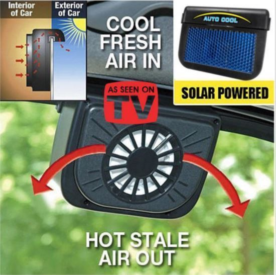 Best Black ICOUTURE AUTOCOOL SOLAR POWERED FAN LORVANE - AS SEEN ON TV! #Unbranded