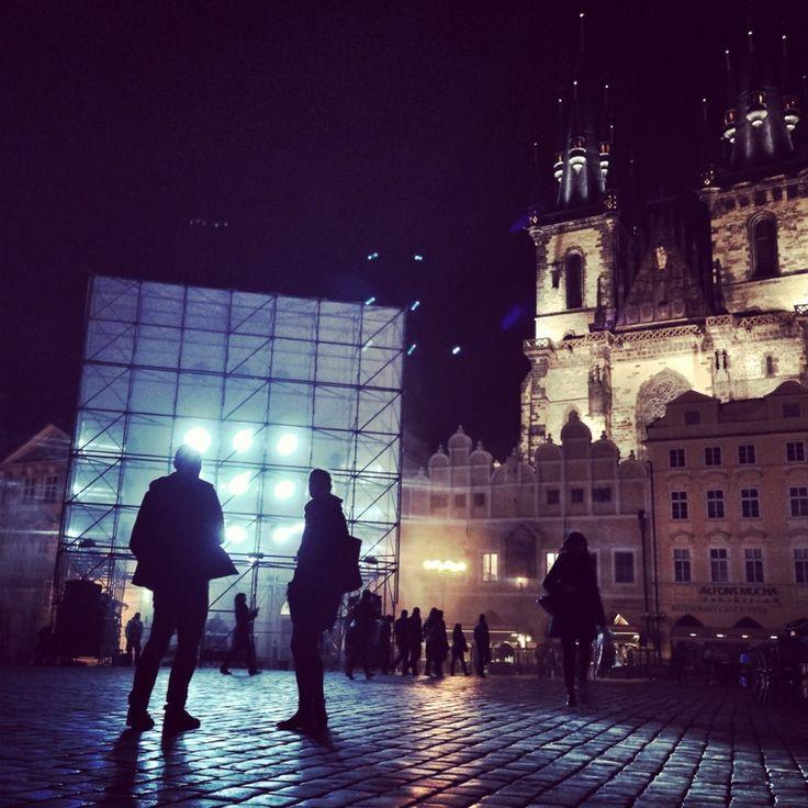 HyperCube, Old Town Square, Prague #signalfestival #architecture #prague #lightart, #installation #videomapping www.signalfestival.com