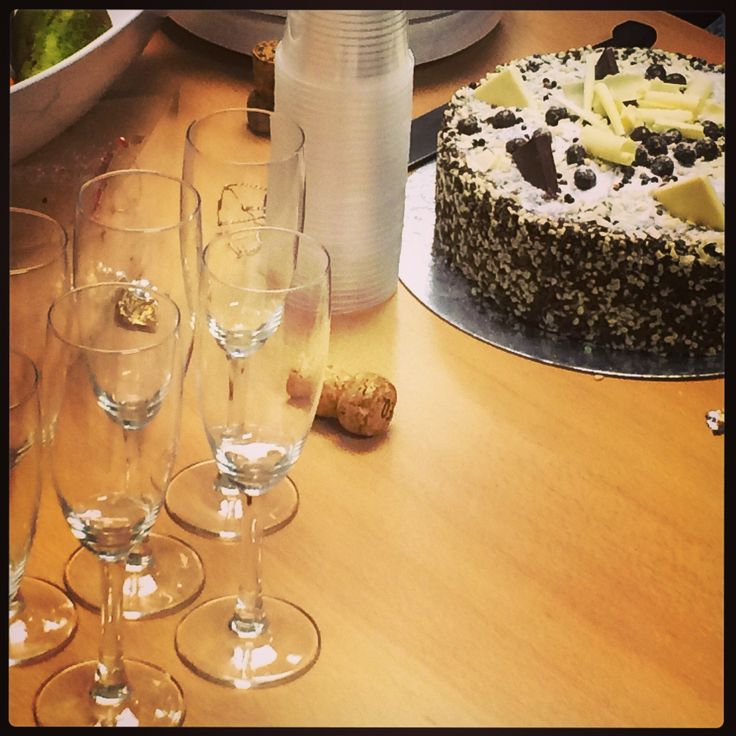 Champagne and Cake.  That's how we roll. #RN15