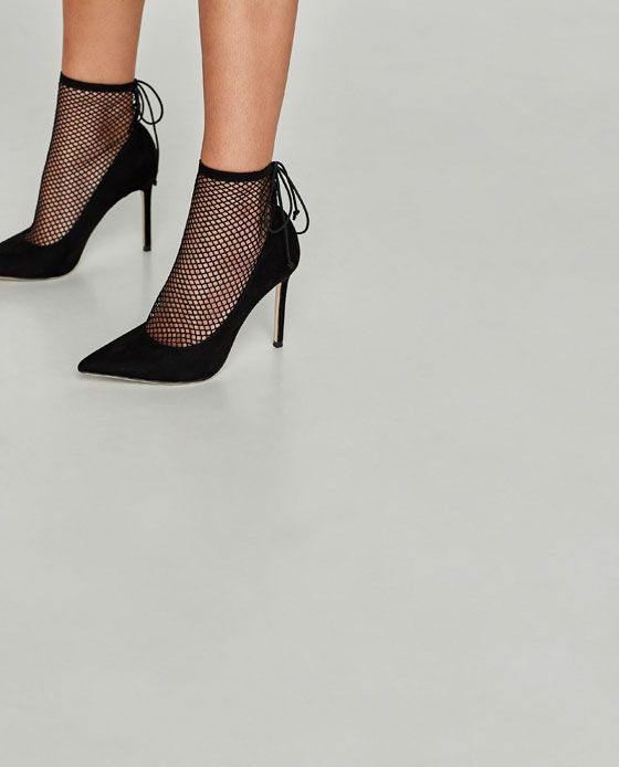 Image 4 of HIGH HEEL SHOES WITH MESH from Zara