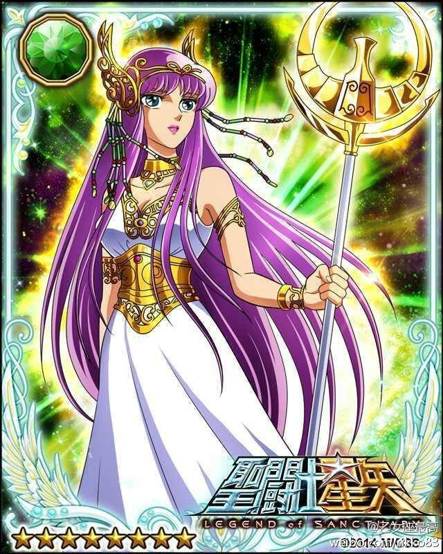 Athena Saori Kido 2 Galaxy Cards version Saint Seiya Legend of Sanctuary