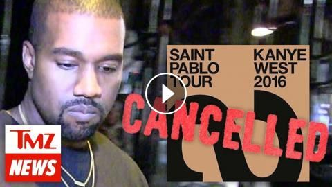 Kanye West Cancels Saint Pablo Tour, Too 'Exhausted' to Continue | TMZ News: Kanye West is pulling the plug on ALL his tour dates for the…