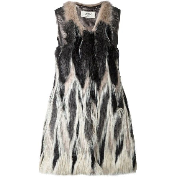Urbancode faux fur waistcoat ($265) ❤ liked on Polyvore featuring outerwear, vests, black, faux fur vests, fake fur vests, waistcoat vest, urbancode and faux fur waistcoat