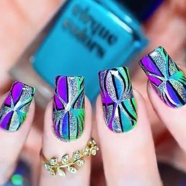 Wunderschöne Nägel von @ clairestelle8. Weitere Nail-Art-Designs finden Sie auf unserer Seite.