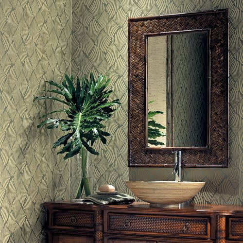 Inspirational bathroom wallcovering ideas by york for Bathroom wallpaper wall coverings