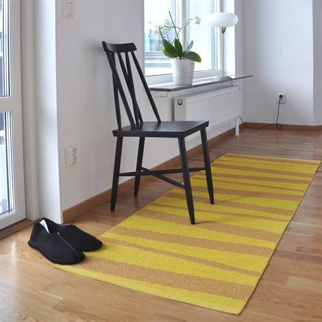 Åre matta gul-ockra - 70x300 cm - Sofie Sjöström Design