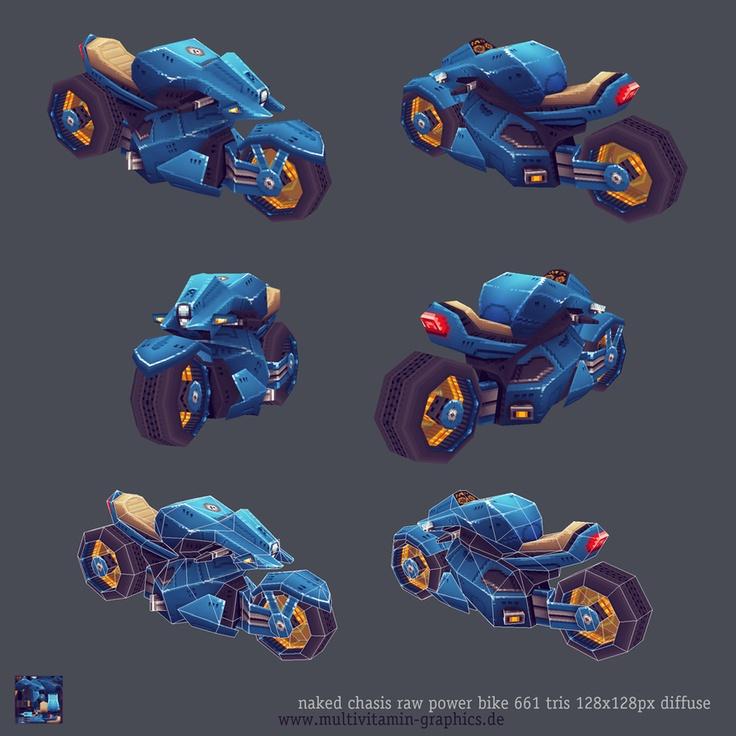 LowPoly motorbike  ©multivitamin