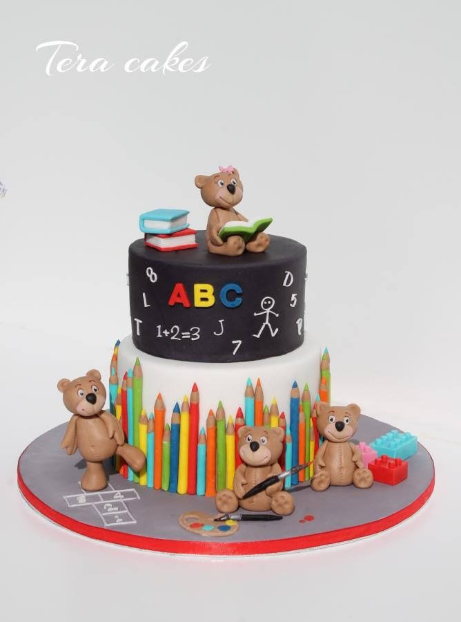 Cake For Kinder Garten By Tera Cakes Teacher Cakes School Cake Book Cakes