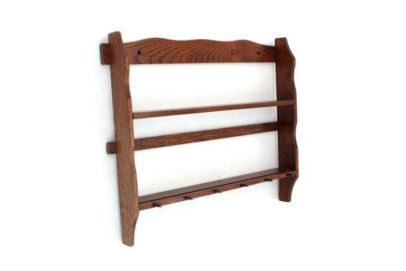 Vintage Wooden Spice Rack Wooden Kitchen Rack Wood by ArtmaVintage