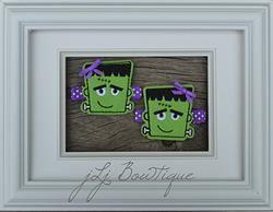 Cute Green & Purple Frankie Hair Clips -$5.00 for pair on jLj Bowtique