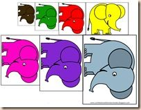 Great Letter E and Elephant Activities - scissors, pre-writing, size sort, color by number, etc.
