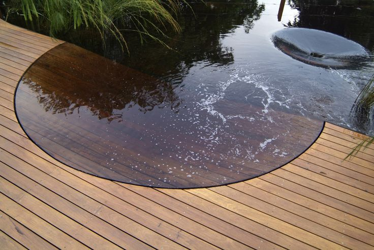 My eye can't quite make sense of this.  Very shallow with decking under the water???  But v. cool.