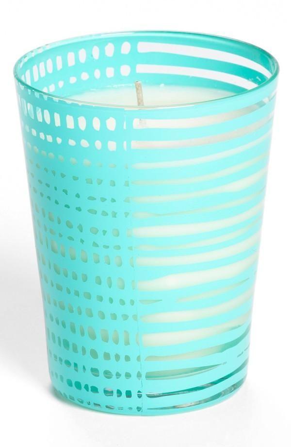 Tiffany blue: Candle holder.