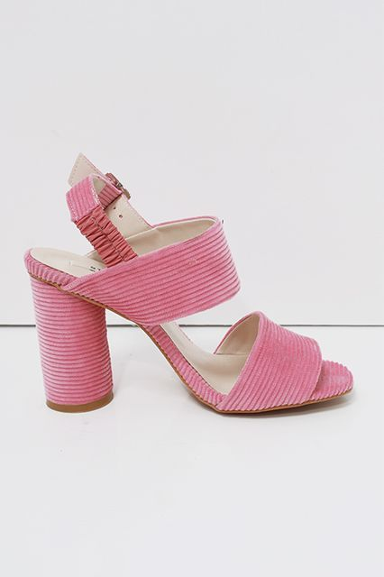 30 Heels That Are Actually Comfortable #refinery29  http://www.refinery29.com/comfortable-spring-heels#slide-3  Take corduroy into spring with this tickled-pink pair.Loéil Gryson Corduroy Sandal, $82, available at Loéil....