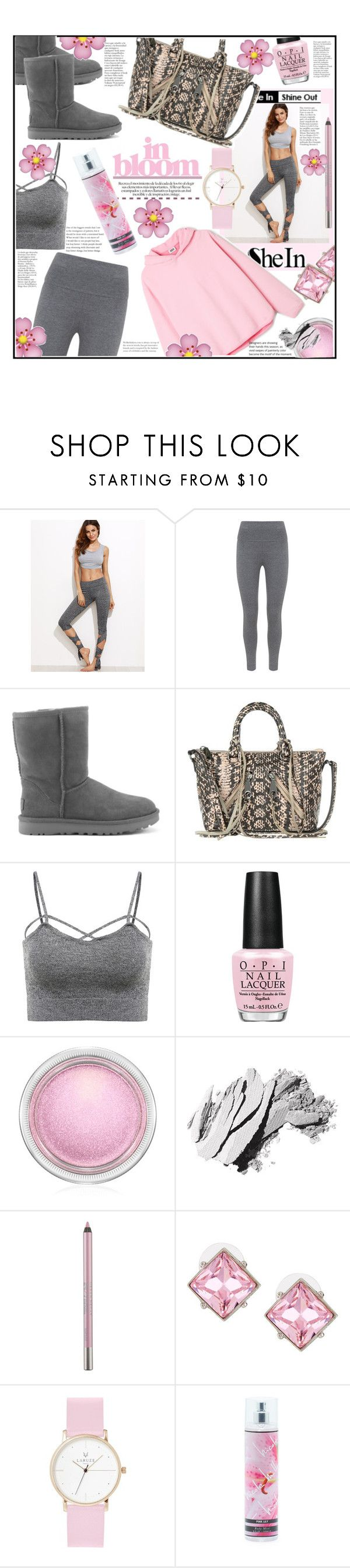 """BLOOM"" by jckallan ❤ liked on Polyvore featuring Mint Velvet, UGG Australia, Rebecca Minkoff, OPI, MAC Cosmetics, Bobbi Brown Cosmetics, Urban Decay, Kenneth Jay Lane, Laruze and Nicole Miller"