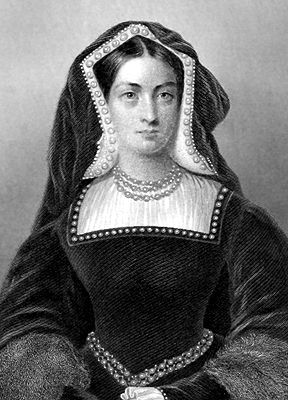 Antique Print of Catherine of Aragaon - King Henry's first wife. Divorced to marry Anne Boleyn.
