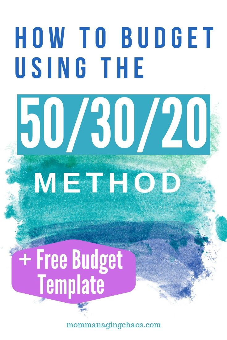 The 50/30/20 Rule for Budgeting