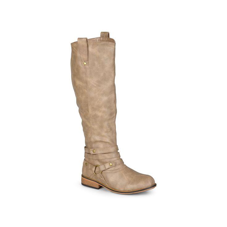 Journee Collection Walla Women's Knee-High Boots, Teens, Size: 7.5 Wc, Lt Beige