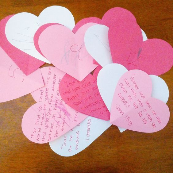 List of scriptures to use on a heart attack for Valentine's Day!   Two by Tw...