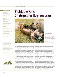 Profitable Pork: Strategies for hog producers