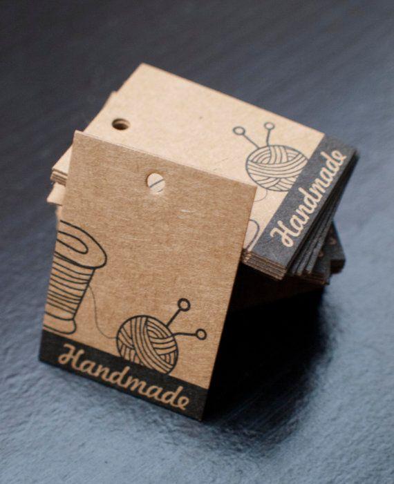 Etiquetas de precios  marrón kraft papel 3 cm x 4xm  tejer