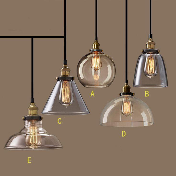 Nordic vintage glazen hanglamp amerikaanse land keuken lichten armaturen moderne edison industriële armatuur 110 v 220 v de verlichting(China (Mainland))