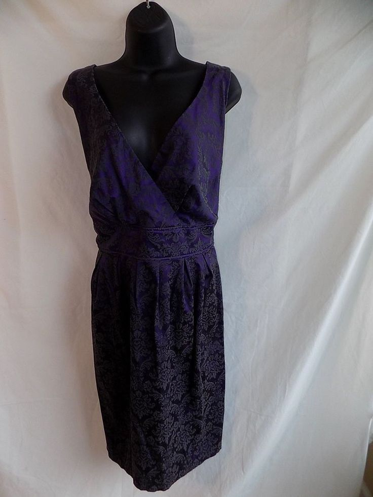 Torrid Size 16 Women Plus Purple tapestry dress elastic ribbed back with tie #Torrid #TunicDress #Casual