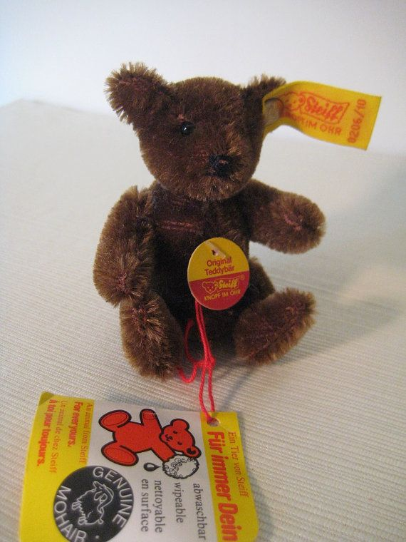 Steiff Vintage Original Dark Brown Teddy Bear    by GrandmaJer