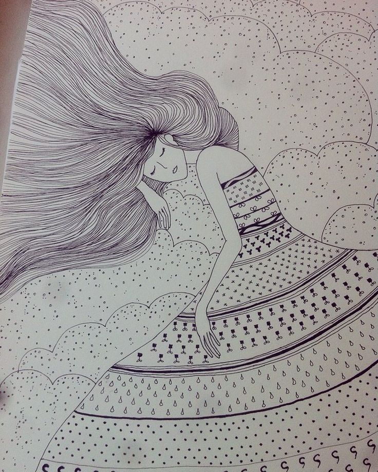 Sleeping girl - Elena Paraschiv Illustration