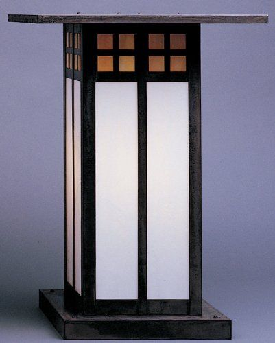 """Arroyo Craftsman GC-18L-S Slate Glasgow Craftsman / Mission 1 Light Post Light from the Glasgow Collection by Arroyo Craftsman. $520.00. Inspired by the designs of C.R. Mackintosh, these Japanese influenced fixtures are at once contemporary, yet traditional18"""" Glasgow Long Body Column MountMounting Base: 13-1/4""""1 150w Max Medium Base (Bulb Not Included)UL Wet Listed"""