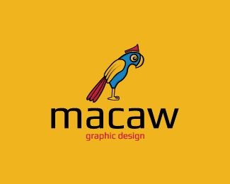Macaw is an abstract logo in the shape of a macaw with blue, yellow, and red colors.( logo for sale, design, macaw, bird, animal, graphic design, colorful, fly, pet care, mascot, pet, logo design).