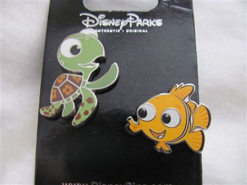 Disney Trading Pin 108603: Nemo and Squirt 2 pin set