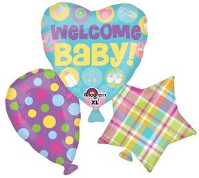 Bouquet Palloncini foil Baby Shower
