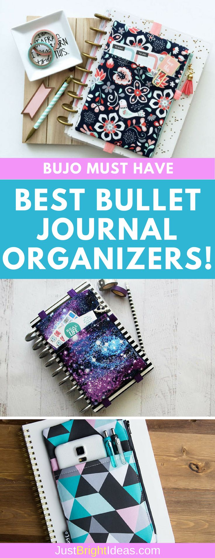 BULLET JOURNAL MUST HAVE! Keep all your must haves right where you need them with a Bullet Journal pouch Use the organizer to store stickers, stencils, pens and even your cellphone!