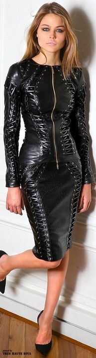 Girl in Leather.