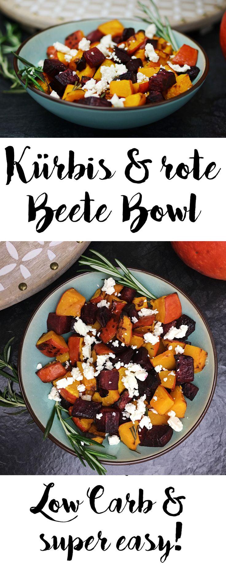 Rote Beete und Kürbis sind eine perfekte low carb Kombi für ein schnelles Abendessen. Das vegetarische Rezept geht ganz fix und vor allem leicht.