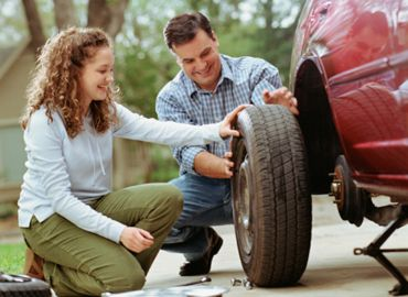 "Always ensure your spare tyre is correctly inflated. Remember; do not use a ""Space Saver"" tyre as a permanent replacement #DunlopTyresSA #HowToChangeAFlatTyre"