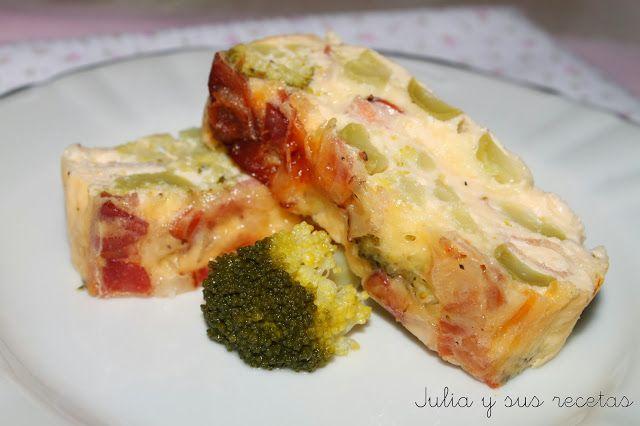 Pastel de brócoli y bacon. Una opción perfecta para comer esta verdura tan saludable pero que no a todo el mundo convence con su sabor.
