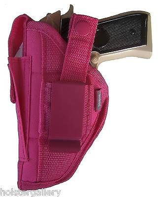 Pink Gun holster with Mag Pouch fits S&W M&P Compact use left or right hand draw
