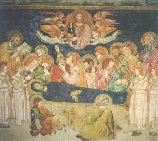 DORMITIO VIRGINIS - SANTA MARIA DEI PENITENTI - PIOVE DI SACCO (PADOVA, ITALY) - Scuola di Giotto? Seguaci di Guariento?