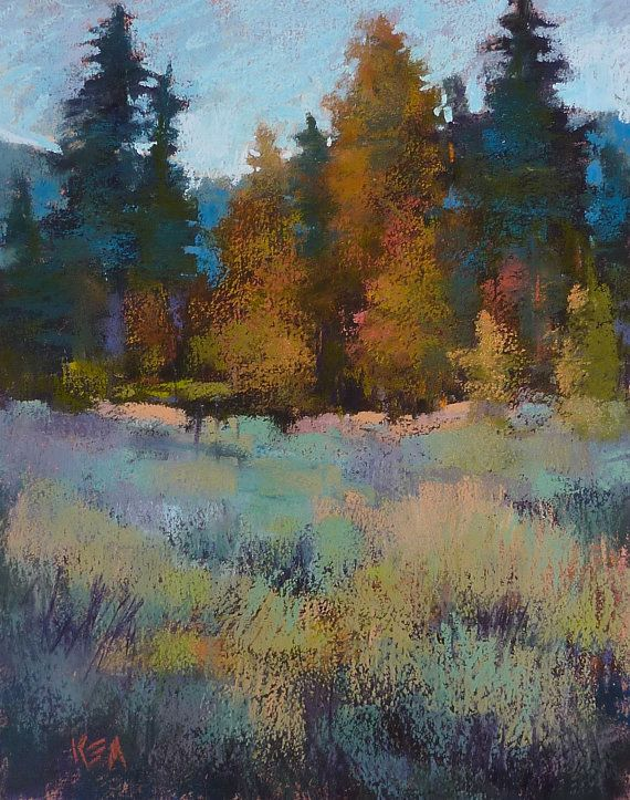 California Impressionist  SUNRISE Trees by KarenMargulisFineArt