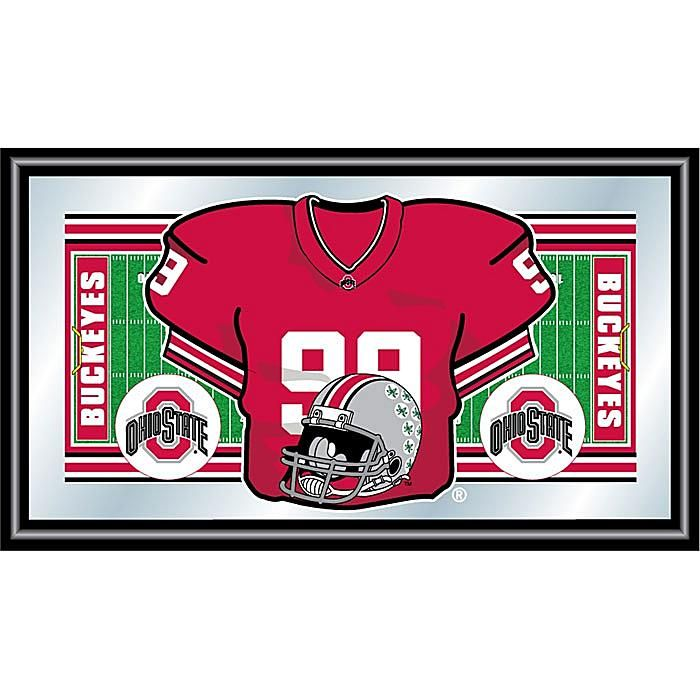 Trademark Global, Inc. Ohio State Football Framed Jersey Mirror