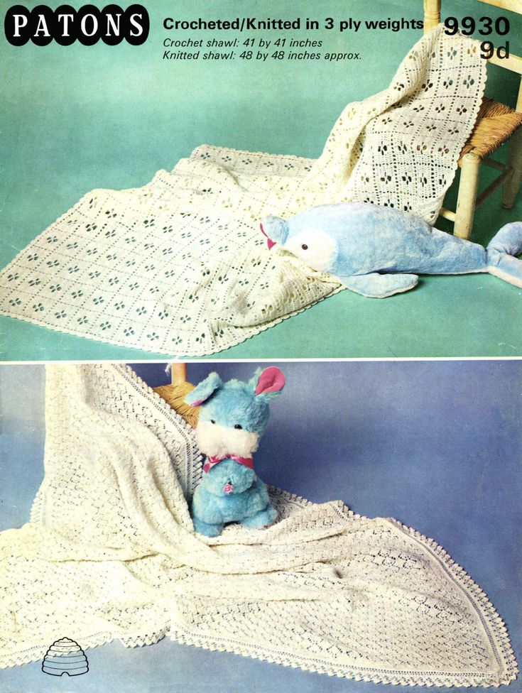 Exelent Babyschal Häkelmuster Illustration - Decke Stricken Muster ...