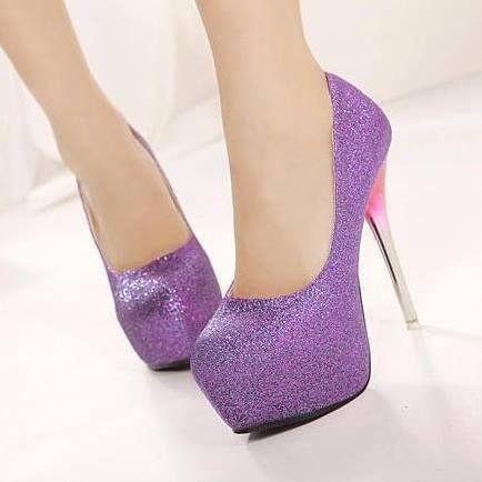 Purple sparkly pumps