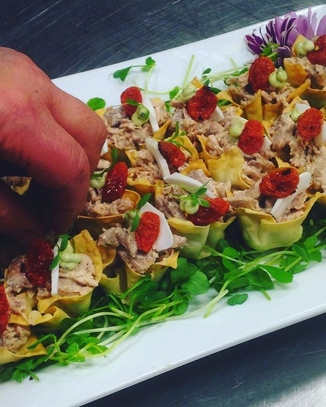 Preppin' some #Yummy Tamarind Chicken Canapé  #torontocatering #yyz #toronto #foodart #cateringlife #blogTO #events #eventcatering #catering #torontovenues #torontoeats #tastetoronto #torontofood #foodgasam #goodeats #instafood #foodphotography #eventplanner #eventplanning #416 #TOfood #decor #weddings #meetings #decorations #foodporn #gimme #sogood