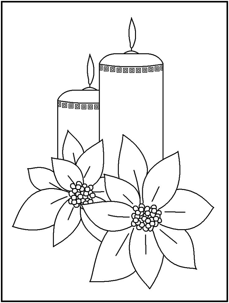 candles coloring pages - photo#29