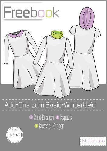 Freebook Basic Winterkleid Damen - Schnittmuster und Anleitung als PDF, versandkostenfrei